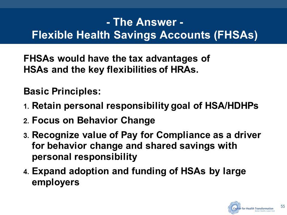 Flexible Health Savings Accounts (FHSAs) The Next Generation