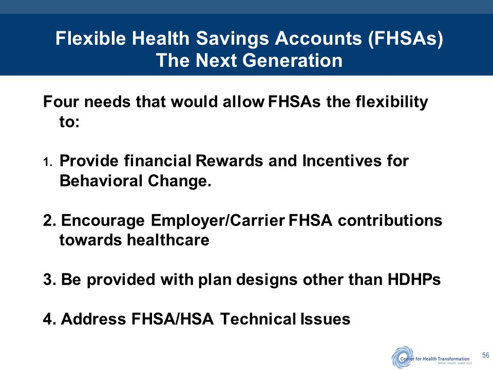 FHSA Flexibilty to Provide Financial Rewards and Incentives for Behavioral Change