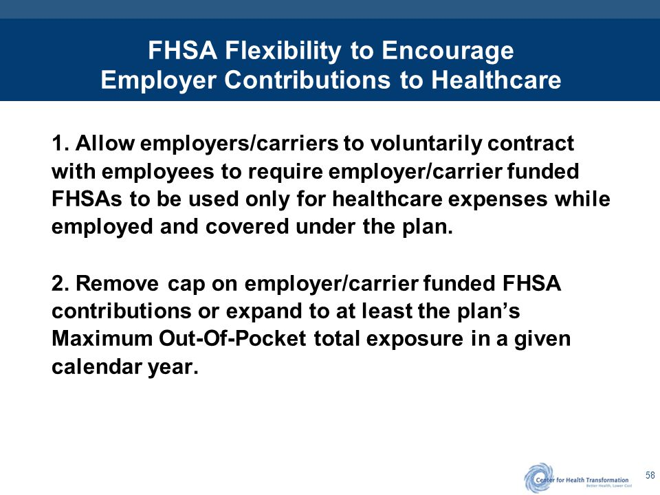 FHSAs Flexibility to be Provided with Plan Designs Other than HDHPs