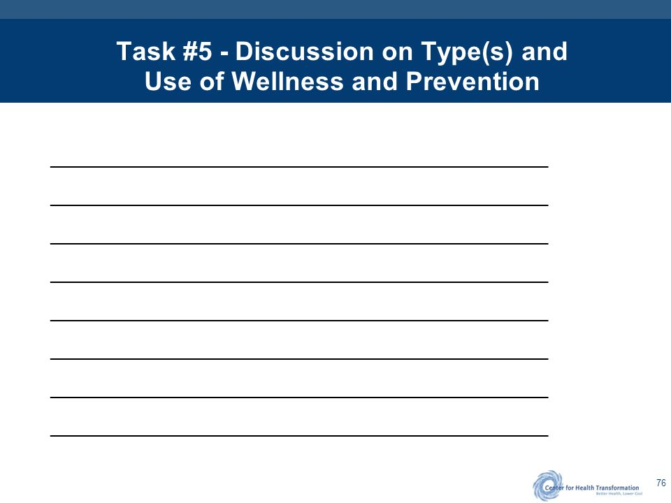 Task #6 - Disease Management Programs
