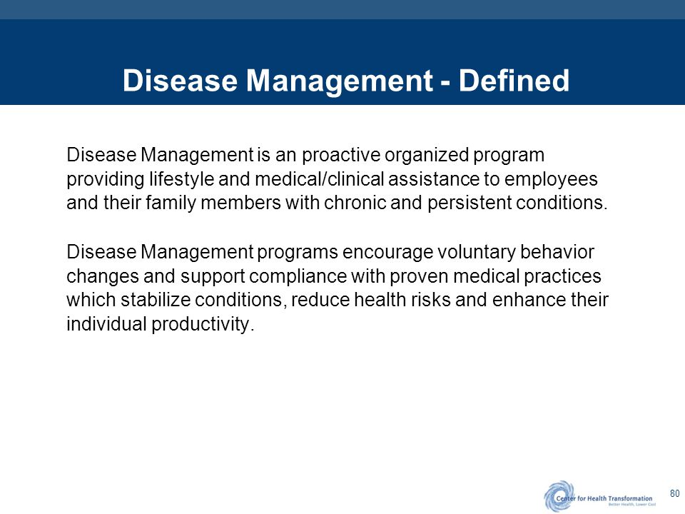 Disease Management – The Need