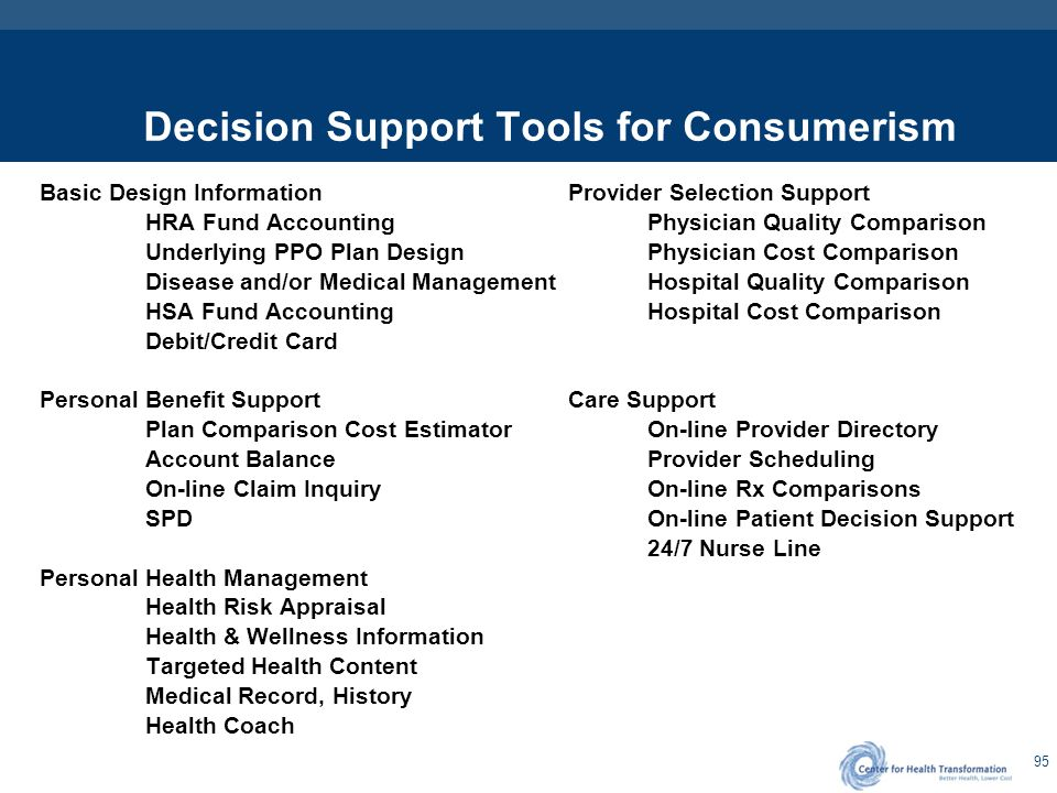Decision Support Tools Employer Considerations