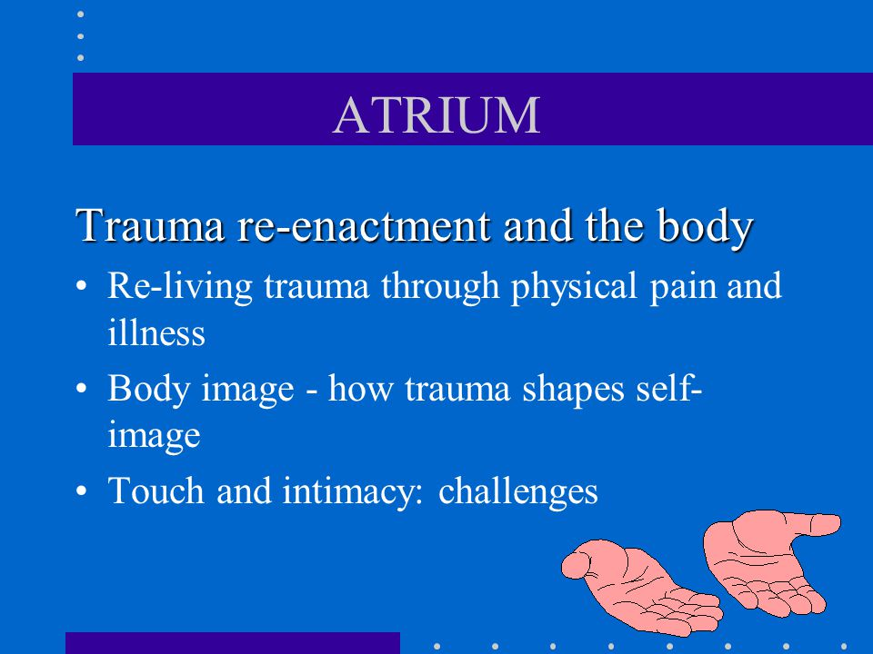 ATRIUM Trauma re-enactment and the body