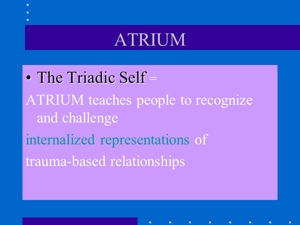 ATRIUM The Triadic Self =