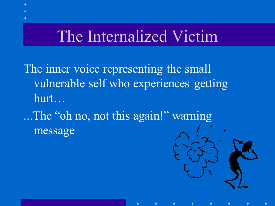 The Internalized Victim