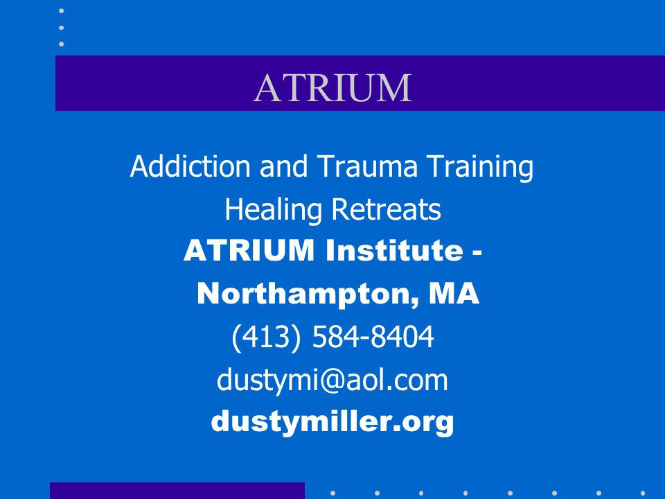 Addiction and Trauma Training