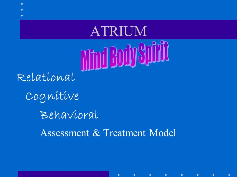 ATRIUM Mind Body Spirit Relational Cognitive Behavioral