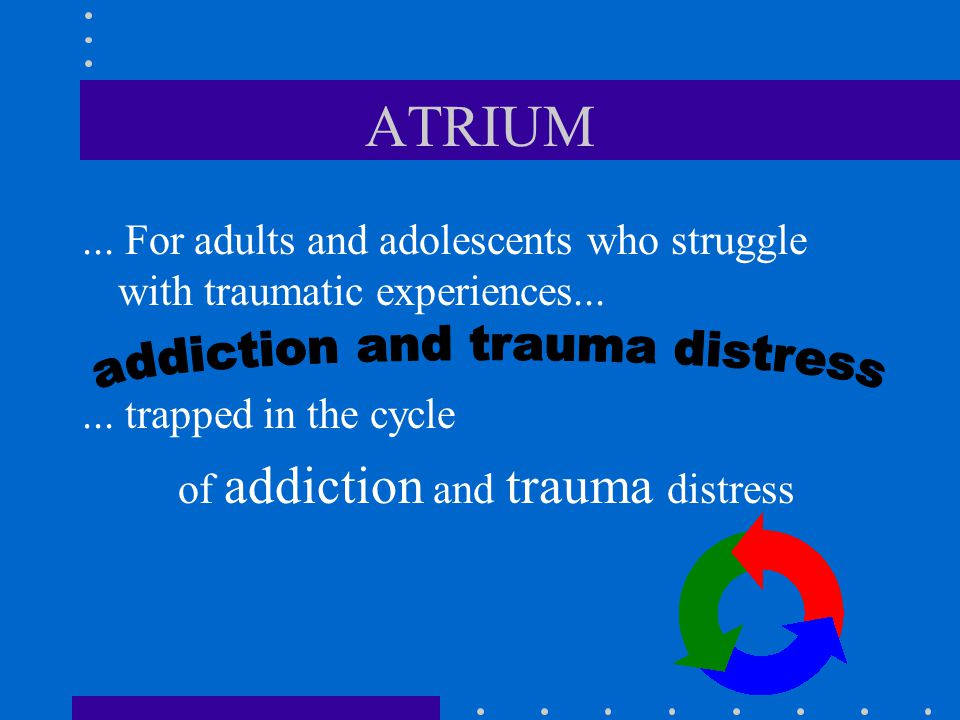 addiction and trauma distress