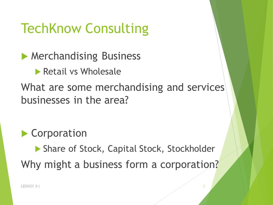 TechKnow Consulting Merchandising Business