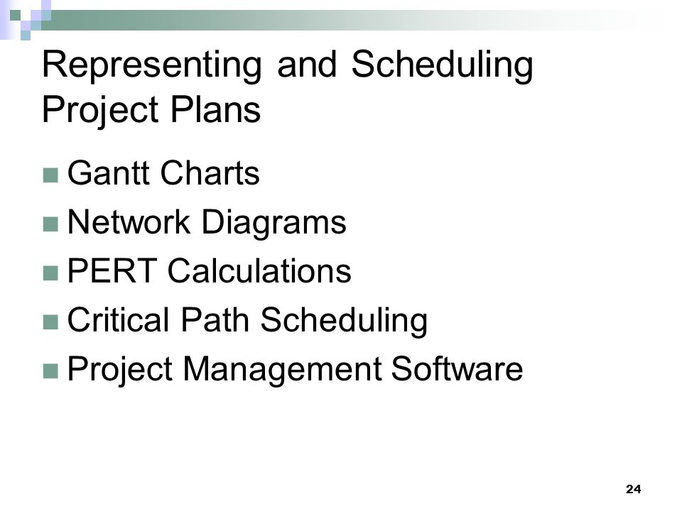 Representing and Scheduling Project Plans