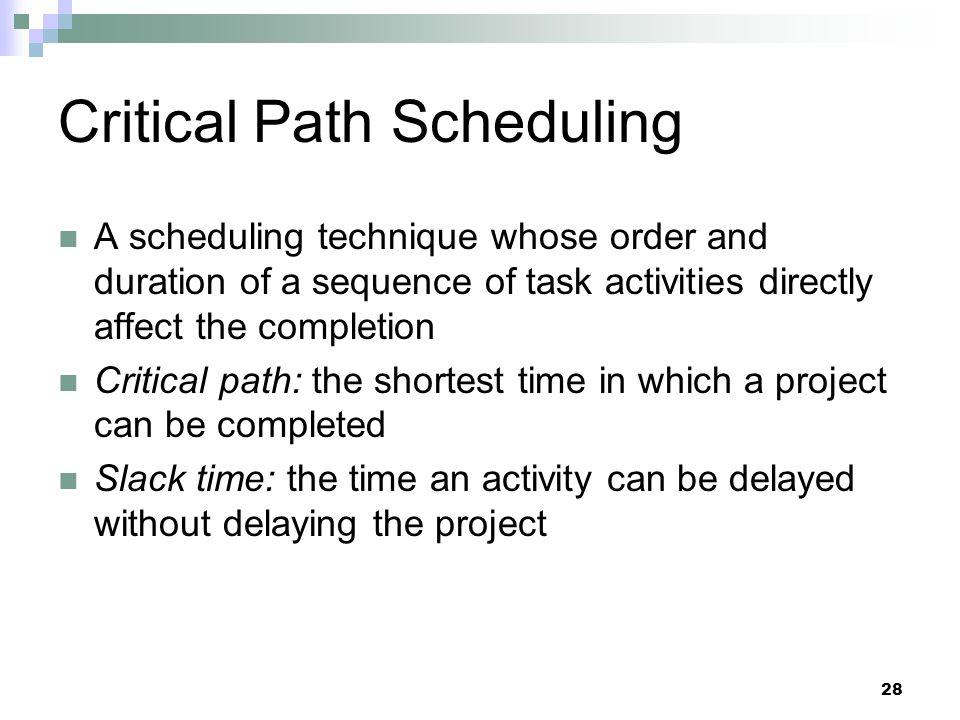 Critical Path Scheduling