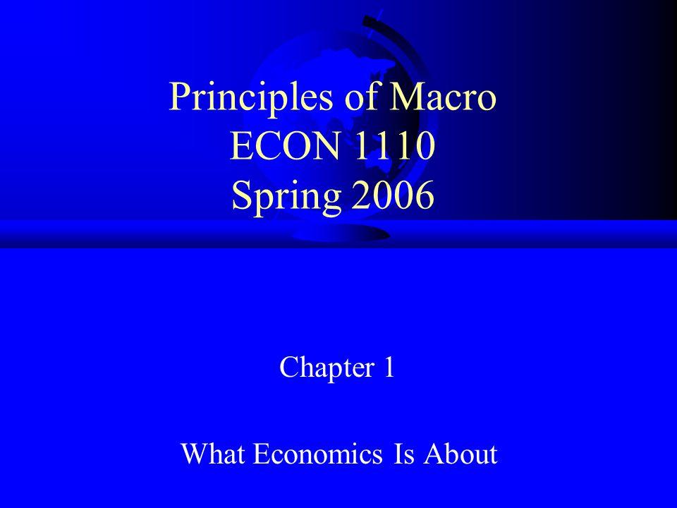 Principles of Macro ECON 1110 Spring 2006