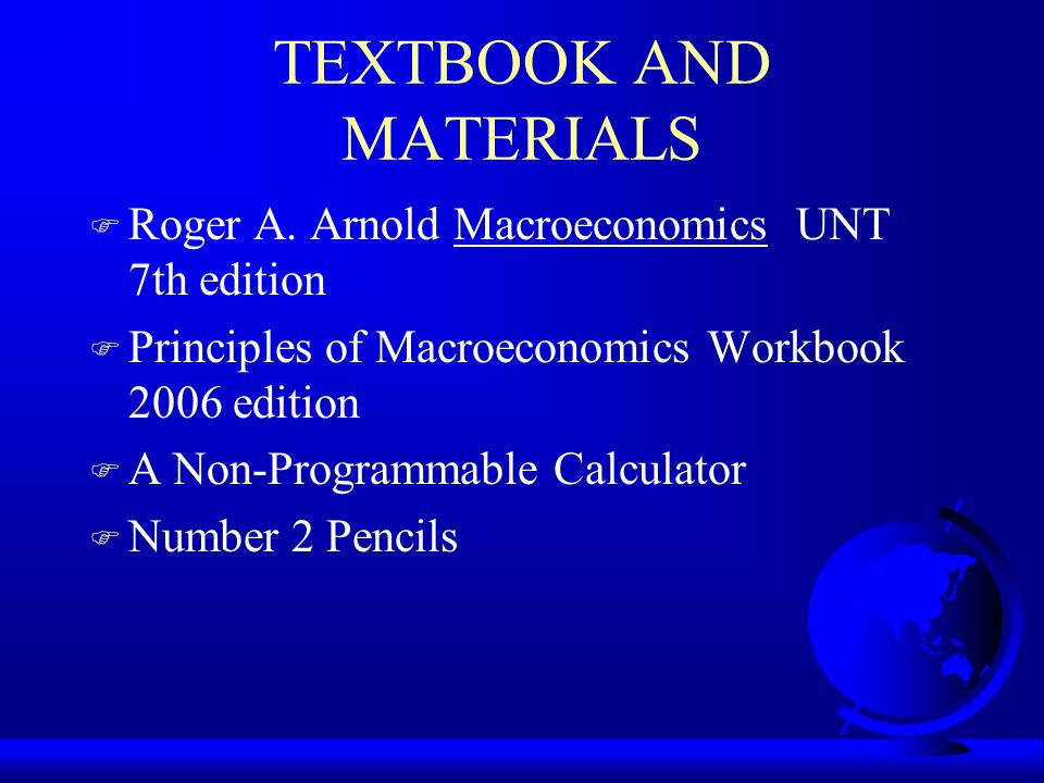 TEXTBOOK AND MATERIALS