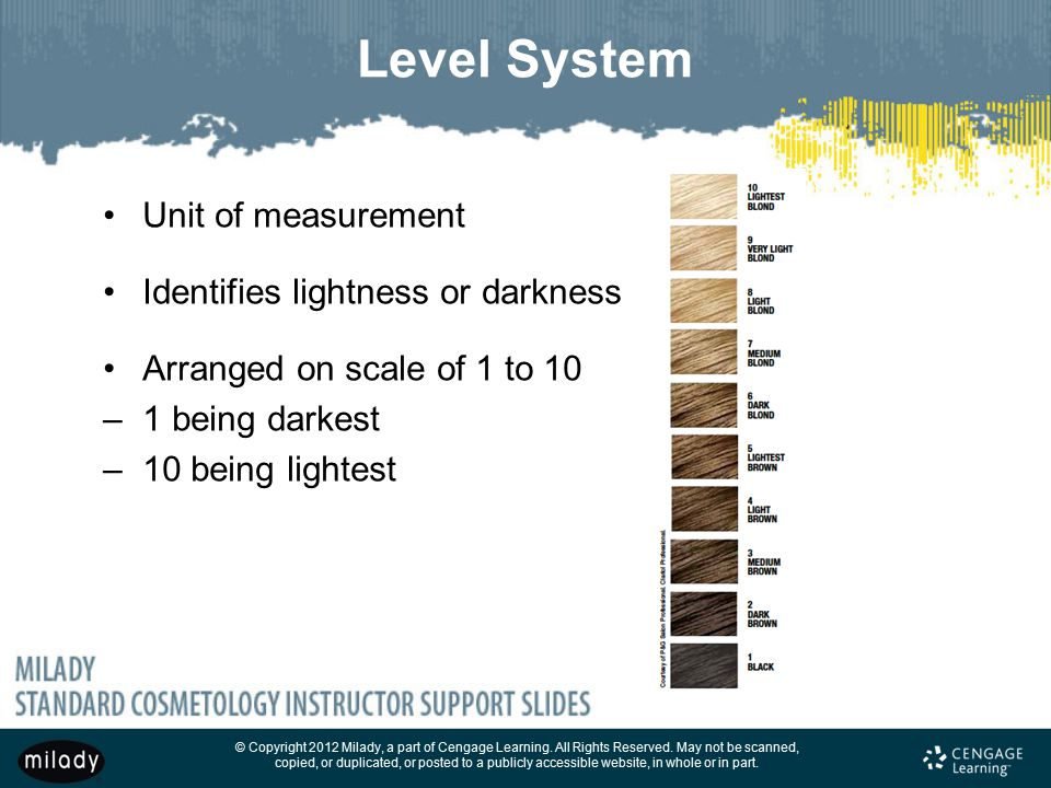 Level System Unit of measurement Identifies lightness or darkness
