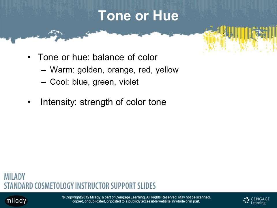 Tone or Hue Tone or hue: balance of color