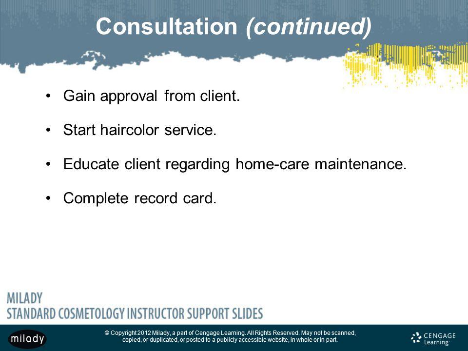 Consultation (continued)