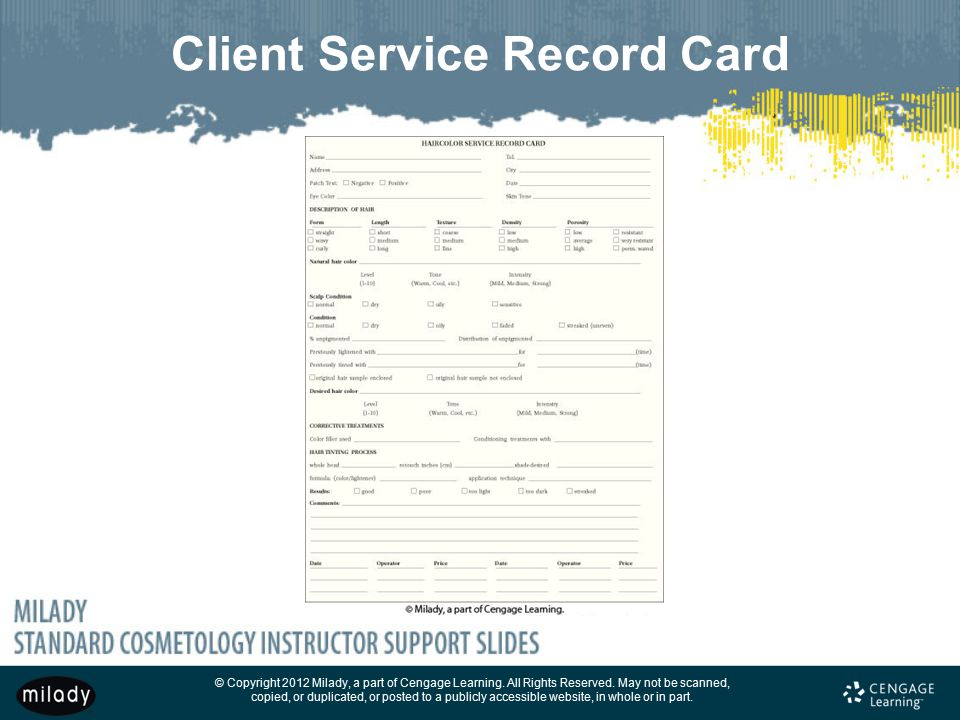 Client Service Record Card