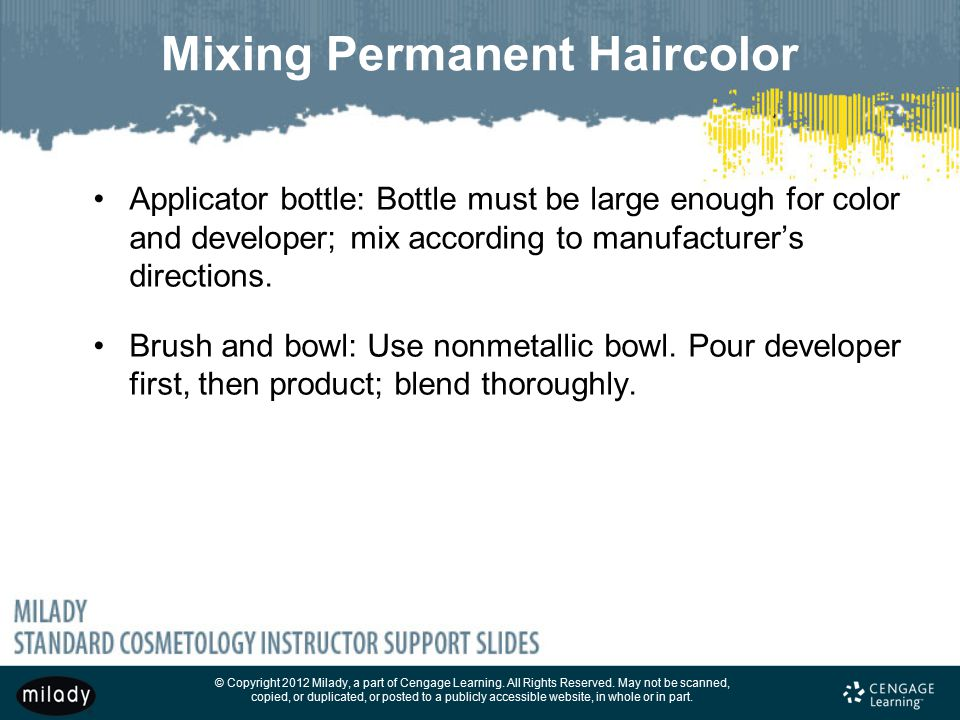Mixing Permanent Haircolor