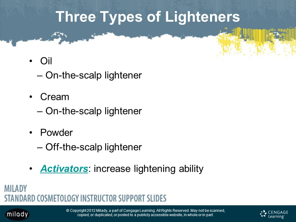 Three Types of Lighteners