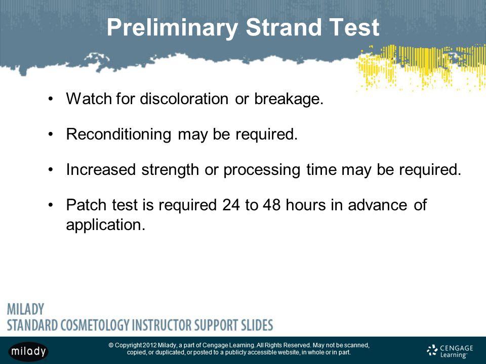 Preliminary Strand Test