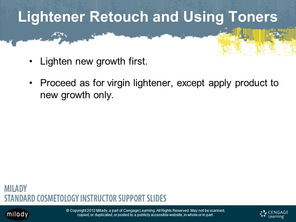Lightener Retouch and Using Toners