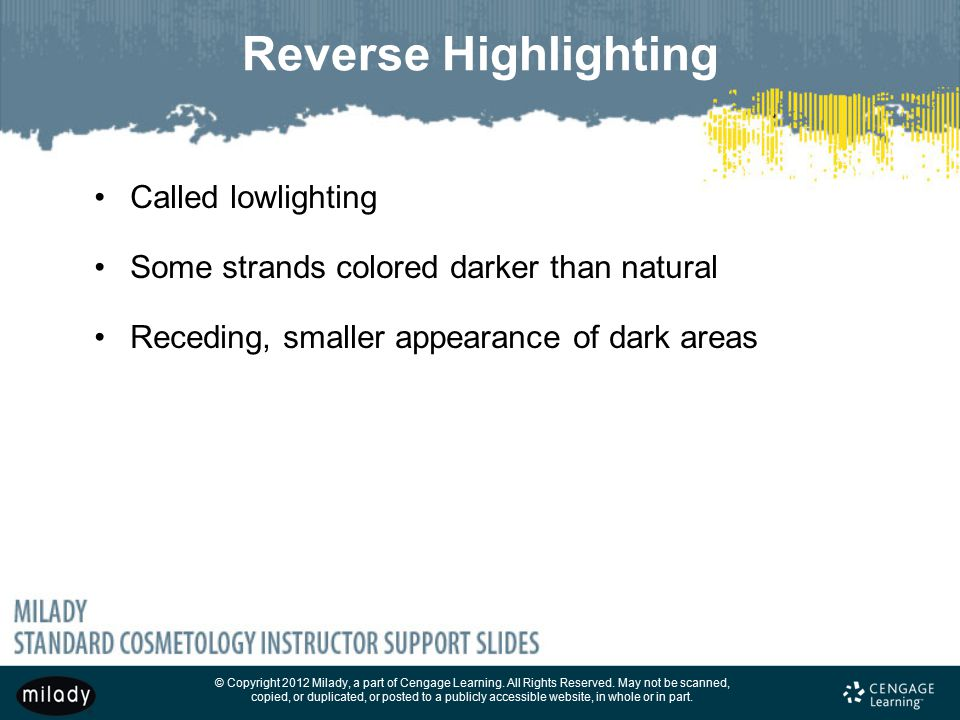 Reverse Highlighting Called lowlighting
