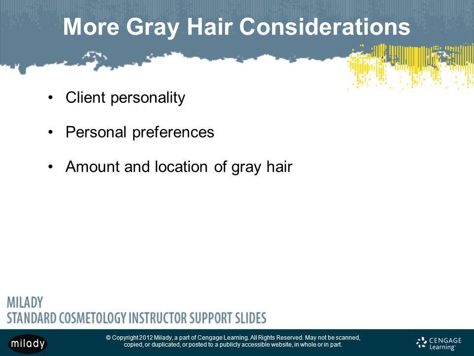 More Gray Hair Considerations