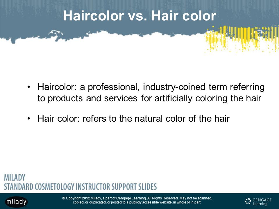 Haircolor vs. Hair color