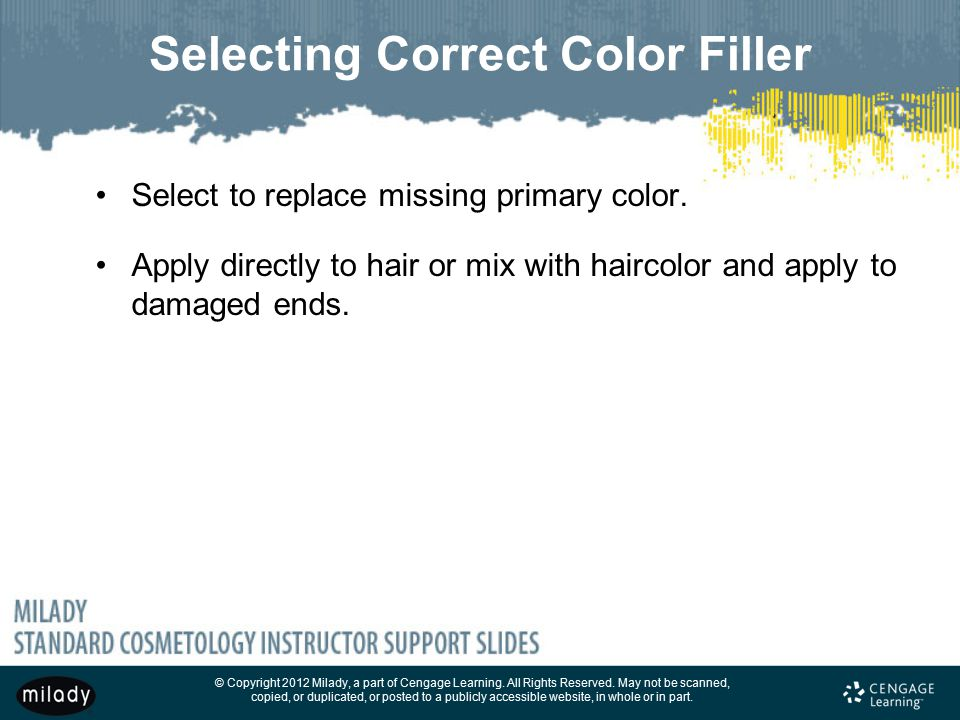 Selecting Correct Color Filler