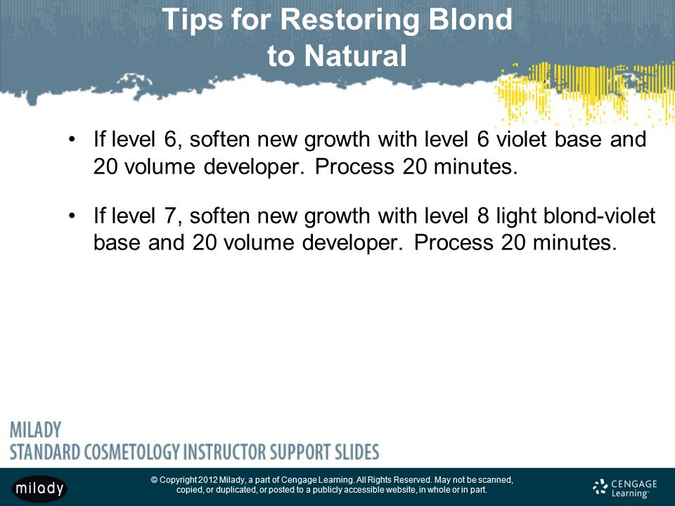 Tips for Restoring Blond to Natural
