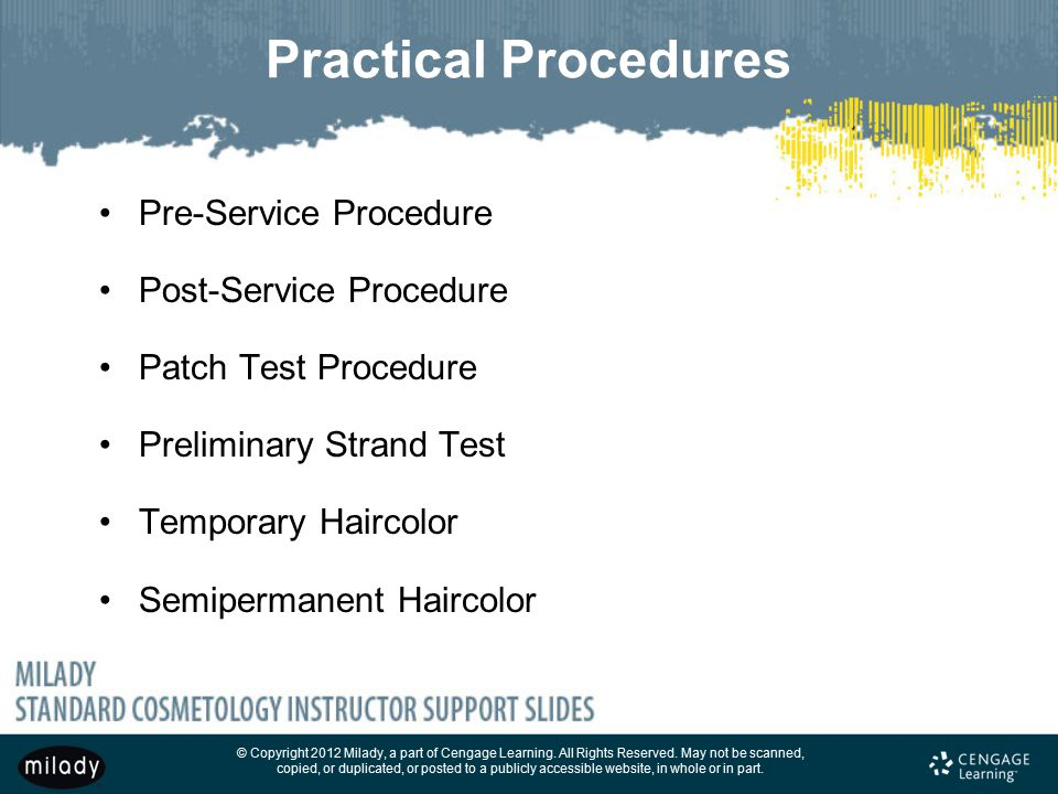 Practical Procedures Pre-Service Procedure Post-Service Procedure