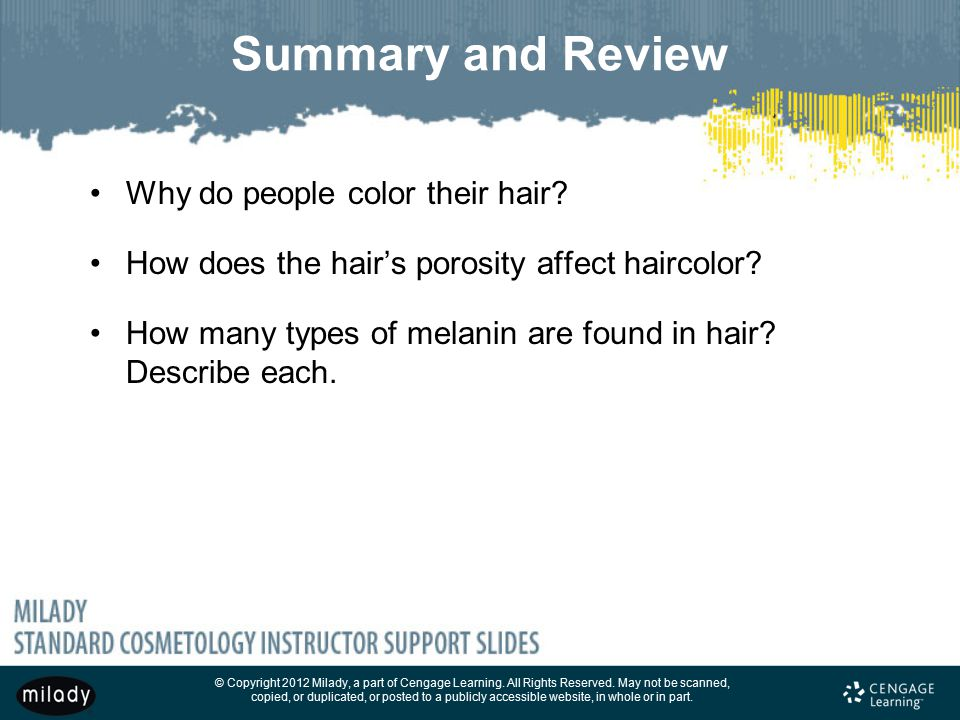 Summary and Review Why do people color their hair