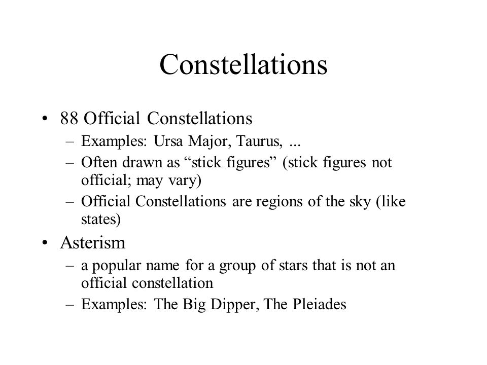 Constellations 88 Official Constellations Asterism