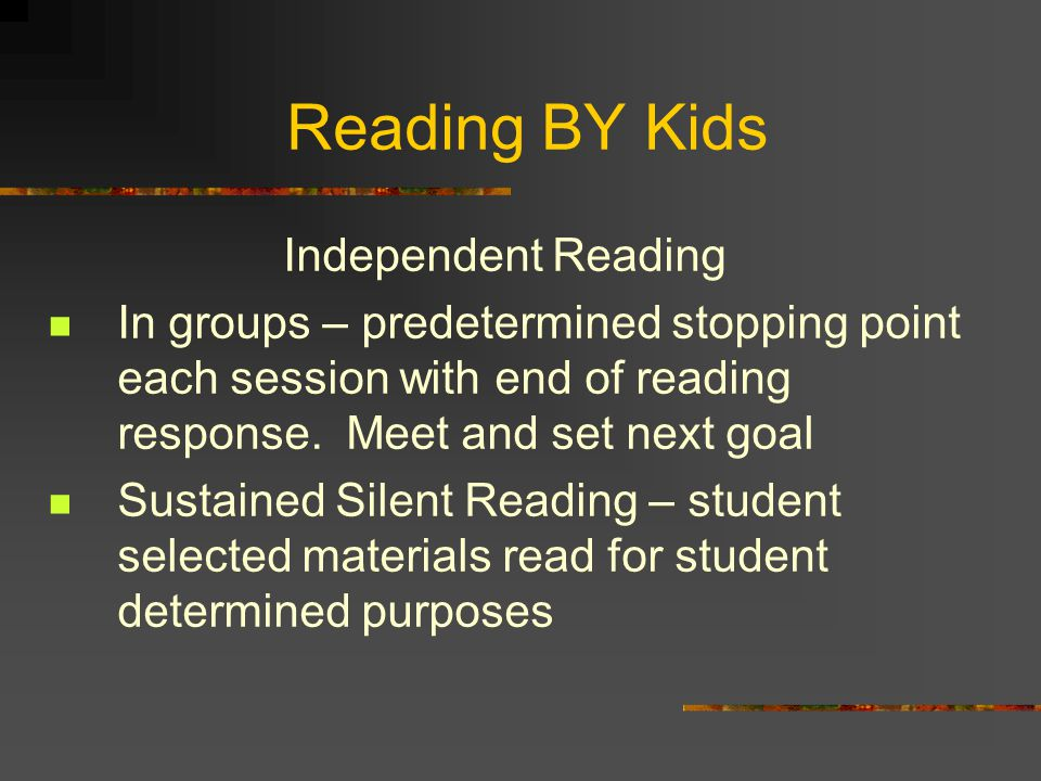 Reading BY Kids Independent Reading
