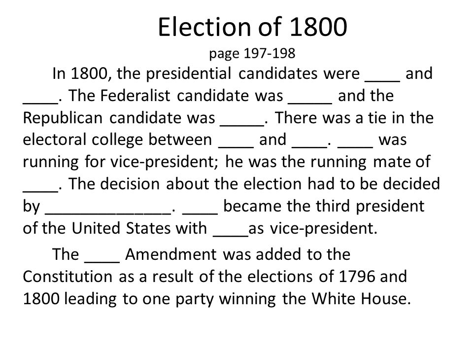 Election of 1800 page 197-198