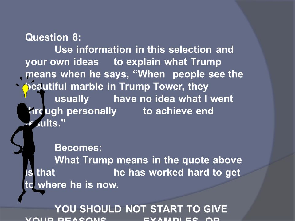 Question 8: