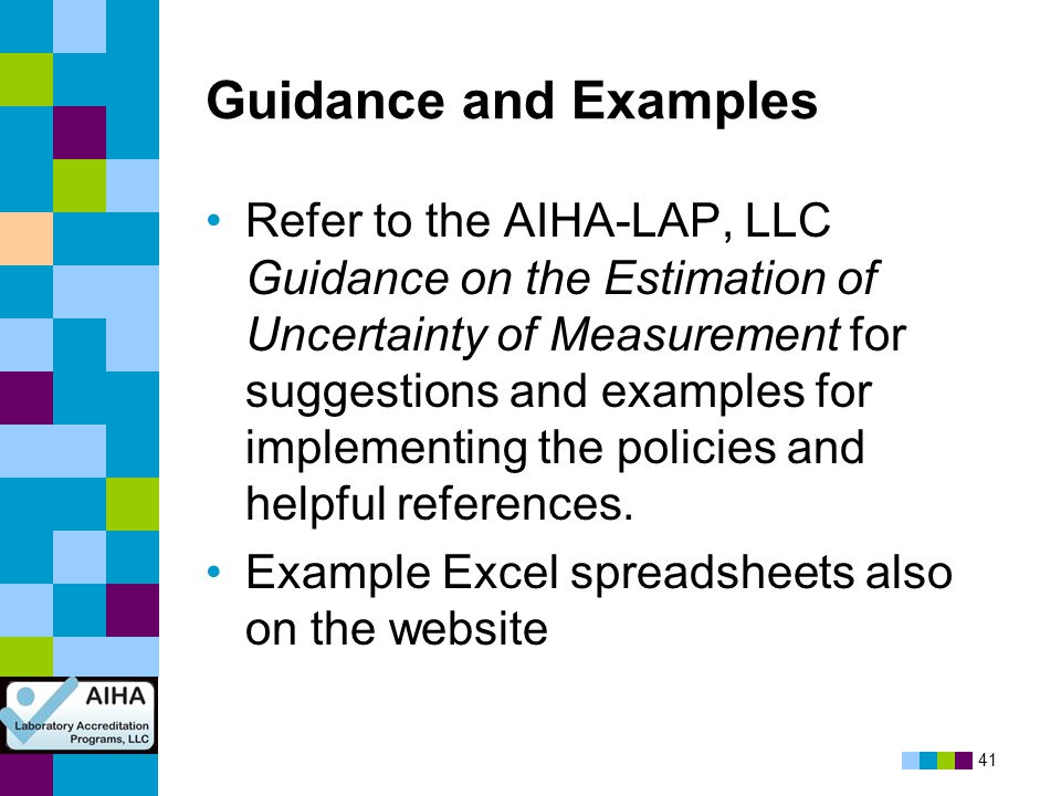 Guidance and Examples