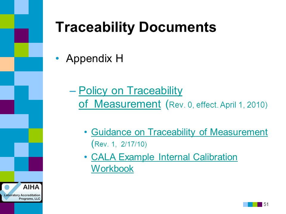 Traceability Documents