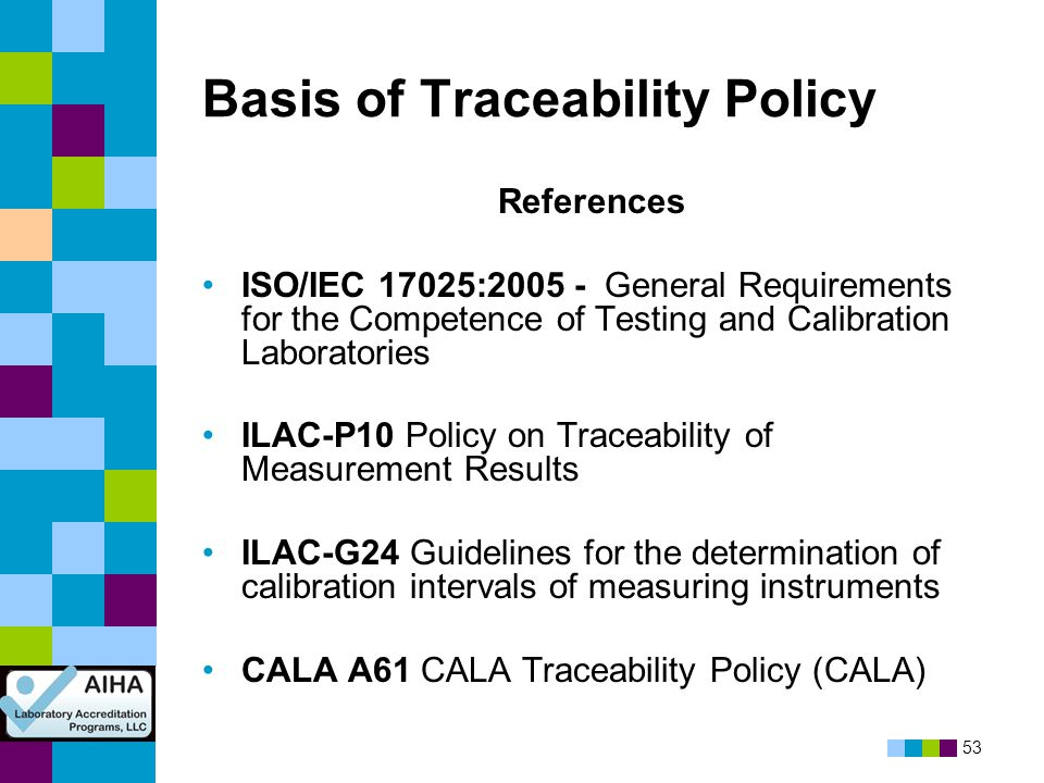 Basis of Traceability Policy
