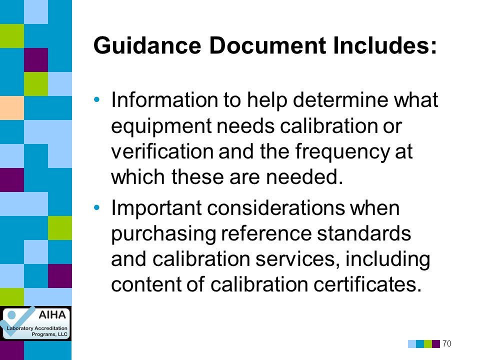 Guidance Document Includes: