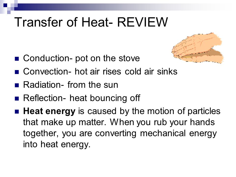 Transfer of Heat- REVIEW