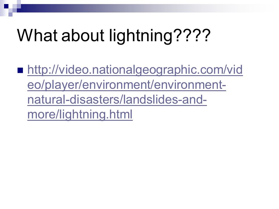 What about lightning