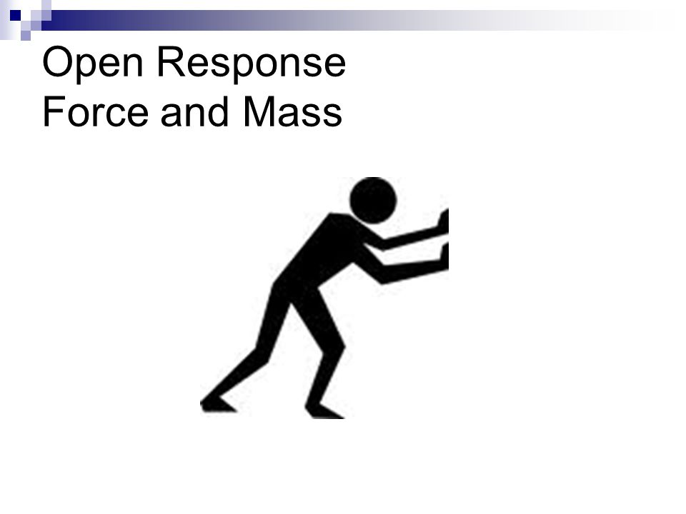 Open Response Force and Mass