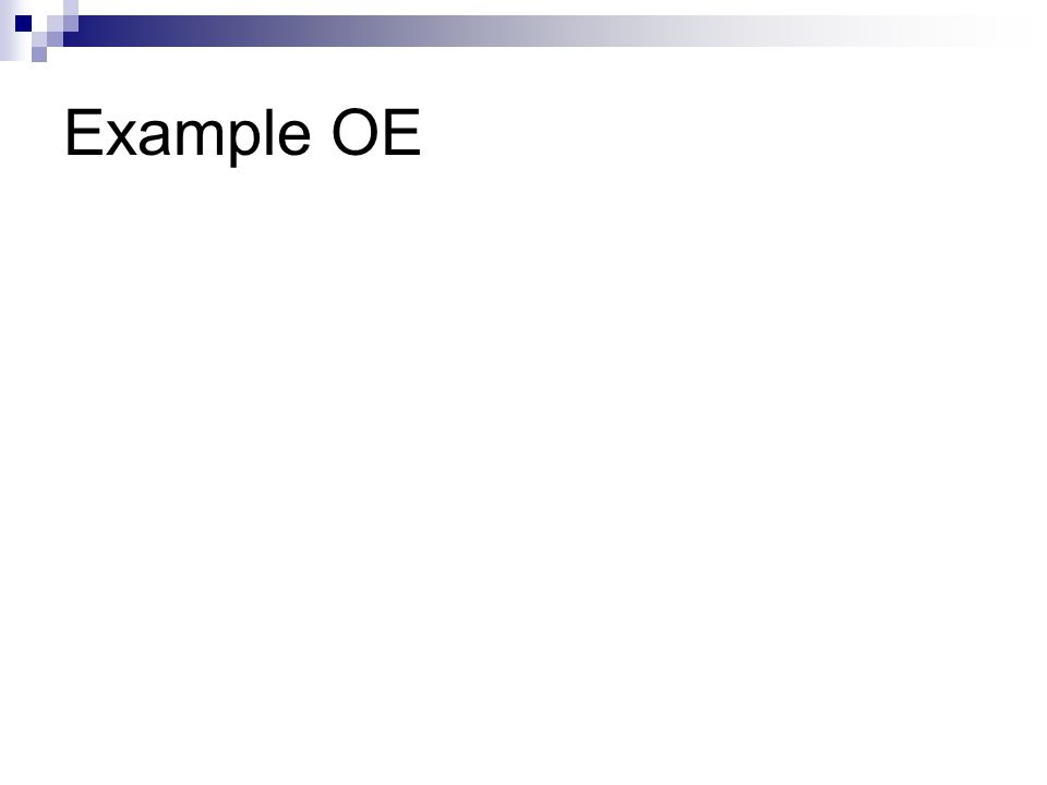 Example OE