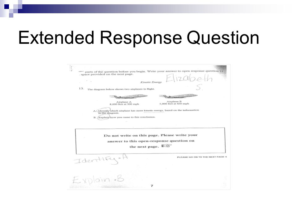 Extended Response Question