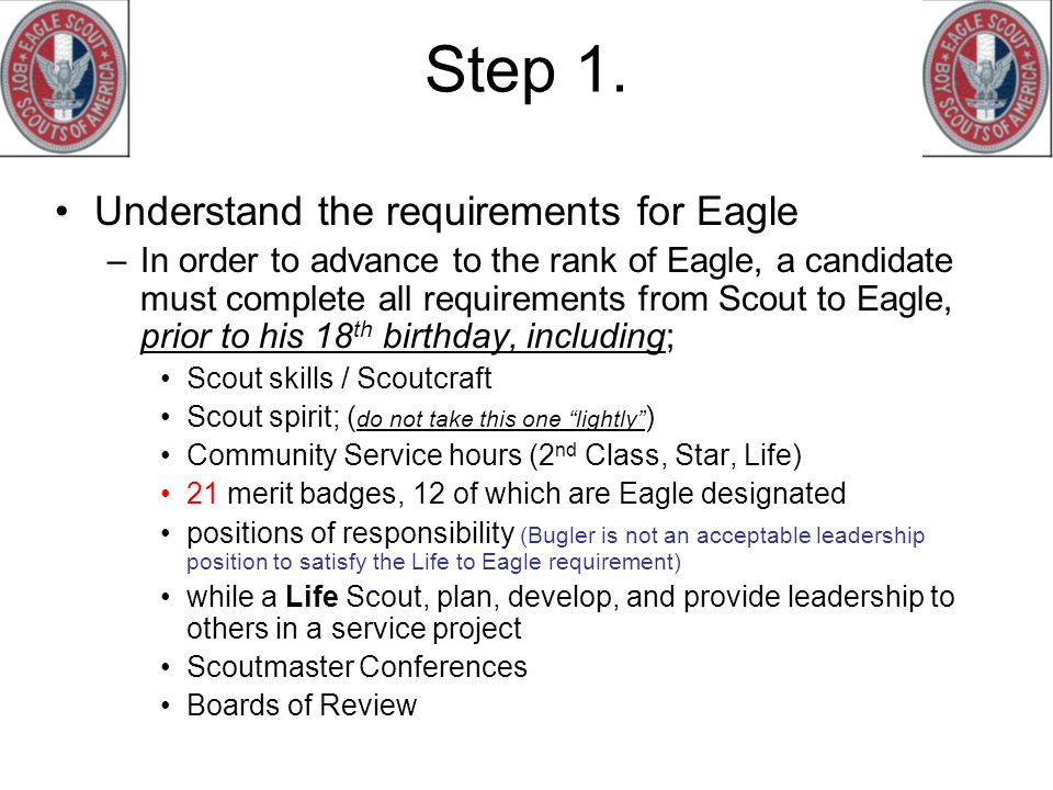 Step 1. Understand the requirements for Eagle