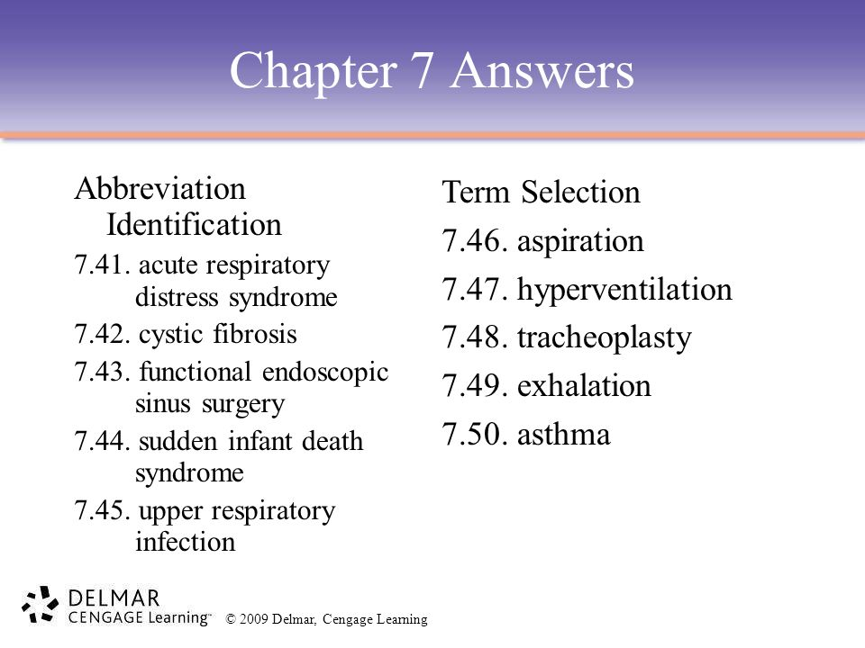 Chapter 7 Answers Abbreviation Identification Term Selection