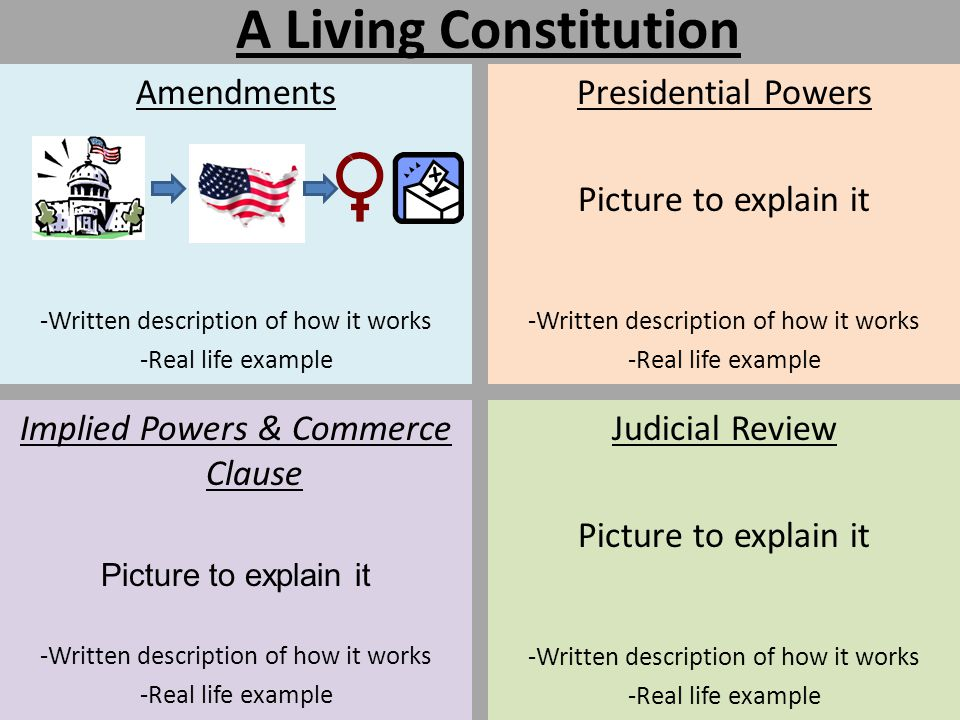 A Living Constitution Amendments Presidential Powers