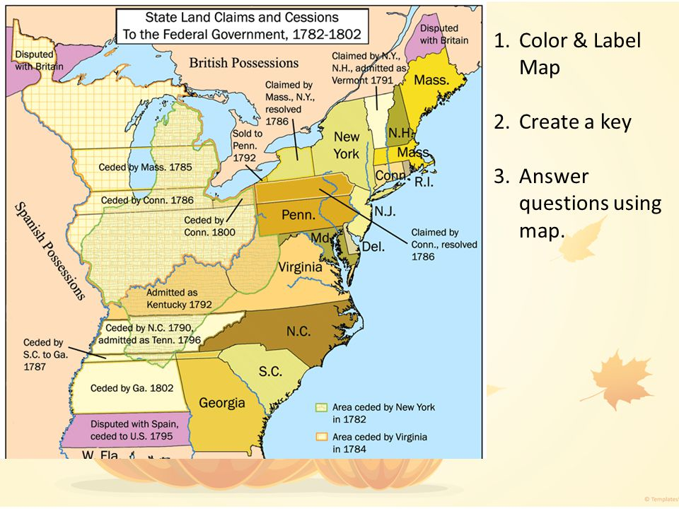 Color & Label Map Create a key Answer questions using map.