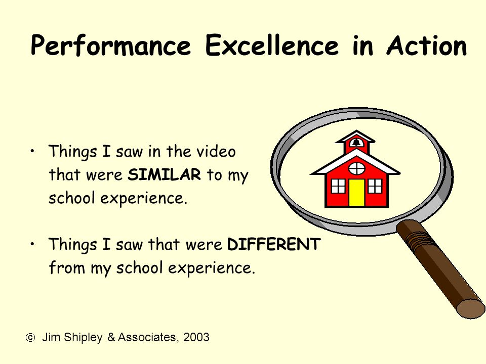 Performance Excellence in Action
